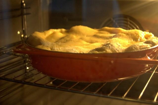 Kuchen in Ofen