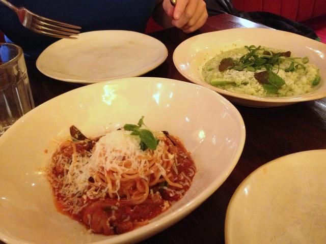 Spaghetti und Risotto