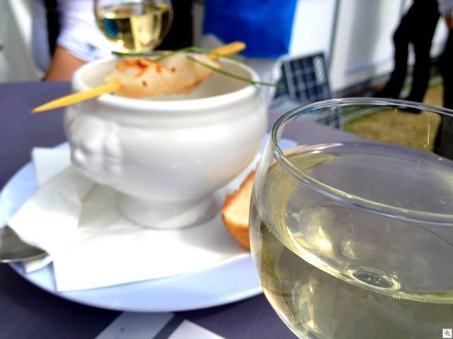 Wein und Suppe